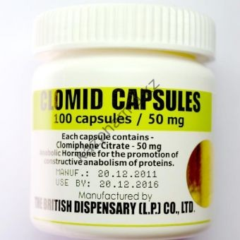 Clomid capsules (Кломид) British Dispensary 100 таблеток (1таб 50 мг) - Есик